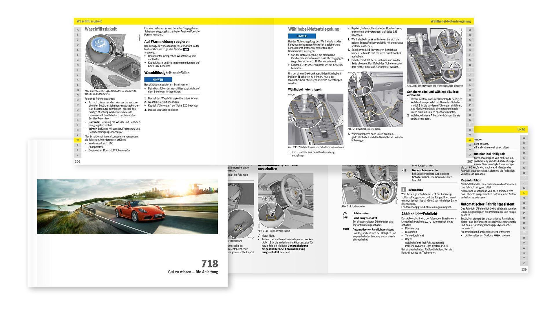 Fahrzeug-Bedienungsanleitung Porsche