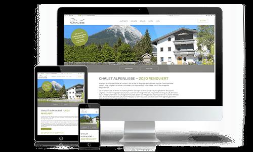 Responsive Webdesign Chalet Alpenliebe