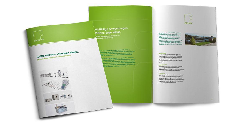 Broschüre Foerster von KE-Communication