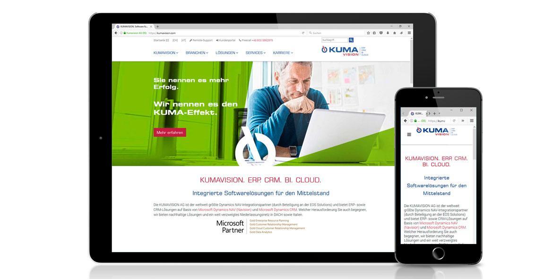 Kumavision Webseite Markenrelaunch