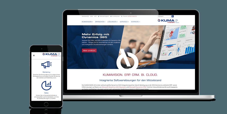 Kumavision Webseite Betreuung und Gestaltung