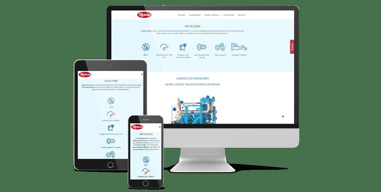 Mehrer Compression Webseite Gestaltung